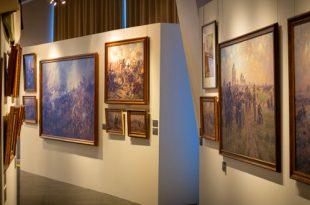 Выставка Александр Аверьянов Живописец баталий Музей-панорама Бородинская битва