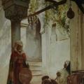 """12. Якоби Валерий """"У входа в мечеть"""" 1883 Холст, масло 112,6х48,3 Рыбинский музей-заповедник"""