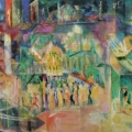 "11. Якулов Георгий ""Бар"" 1910 Темпера, холст 66х101 Государственная Третьяковская галерея"