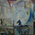 "14. Якулов Георгий ""Цирк"" Картон, темпера 80х108 Государственный музей искусств Узбекистана, Ташкент"