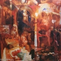 "15. Якулов Георгий ""Кафе"" 1911 Картон, масло 41х31 Калужский художественный музей"