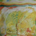 """17. Якулов Георгий """"Весенняя прогулка"""" 1915 Бумага, картон, гуашь, акварель, графит 49,5х32,8 Государственная Третьяковская галерея"""