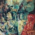 "2. Якулов Георгий ""Скачки"" 1905 Картон, масло 102х67,5 Национальная галерея Армении, Ереван"