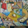 "20. Якулов Георгий ""Кафешантан"" 1912 Фанера, масло 101х132,5 Национальная галерея Армении, Ереван"