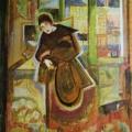 "21. Якулов Георгий ""Женщина за столиком"" 1912 Картон, масло 109х80 Национальная галерея Армении, Ереван"