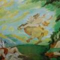 "22. Якулов Георгий ""Бой амазонок"" 1912 Картон, масло 25,5х35,4 Национальная галерея Армении, Ереван"
