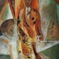 "30. Якулов Георгий ""Негр. Декоративное панно"" 1917 Фанера, масло, серебро, бронза 153х99,5 Национальная галерея Армении, Ереван"