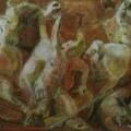 "31. Якулов Георгий ""Бой амазонок. Мотив физа"" 1910 Бумага, темпера, бронза 14,7х38 Национальная галерея Армении, Ереван"
