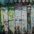"""37. Якулов Георгий """"Декоративный эскиз"""" Бумага, гуашь, акварель, золото Национальная галерея Армении, Ереван"""