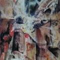"""38. Якулов Георгий """"Поэт Рюрик Ивнев"""" 1920 Картон, гуашь, акварель 27,2х13,7 Национальная галерея Армении, Ереван"""
