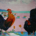 "4. Якулов Георгий ""Петухи"" 1907 Холст, масло 62,5х80 Национальная галерея Армении, Ереван"