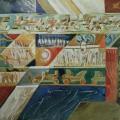 """44. Якулов Георгий """"Декоративное панно"""" 1925 Бумага, цветной карандаш, акварель 25х30,5 Национальная галерея Армении, Ереван"""