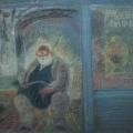 """46. Якулов Георгий """"Старик"""" 1928 Цветная бумага, цветной карандаш 25х33 Национальная галерея Армении, Ереван"""