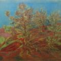 """52. Якулов Георгий """"Дилижанский пейзаж"""" 1928 Цветная бумага, цветной карандаш 25х33 Национальная галерея Армении, Ереван"""