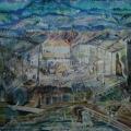 """54. Якулов Георгий """"Улица в Дилижане"""" 1928 Бумага, гуашь 37х51,5 Национальная галерея Армении, Ереван"""