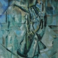 """56. Якулов Георгий """"Женский портрет"""" 1920-1922 Холст, масло 165х70 Из собрания С.И.Аладжалова"""