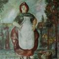 "6. Якулов Георгий ""Торговка"" 1909 Картон, масло 32,4х25,5 Национальная галерея Армении, Ереван"