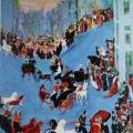 "9. Якулов Георгий ""Улица"" 1909 Картон, масло, бронза 48,2х30,6 Национальная галерея Армении, Ереван"