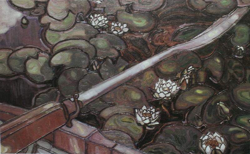 Якунчикова М. В., Весло. 1896 год. Панно, выжигание по дереву, масло