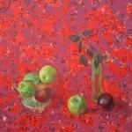 """Негга Тесфае Ацбеха """"Красный натюрморт"""" 2007. Предоставлено: Музей истории Петербурга."""