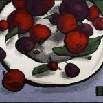 """Евгения Немировская """"Красные яблочки"""" 2009. Предоставлено: Галерея """"Открытый Клуб""""."""
