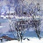 """К.А. Титов """"В низовьях Волги"""" 1980. Предоставлено: Астраханская картинная галерея имени П.М. Догадина."""