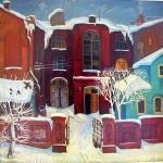 """С.Г. Дьяков """"Зимнее утро"""" 1980. Предоставлено: Астраханская картинная галерея имени П.М. Догадина."""
