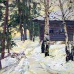 """Т.П. Майкова """"Зимка"""" 1955. Предоставлено: Астраханская картинная галерея имени П.М. Догадина."""
